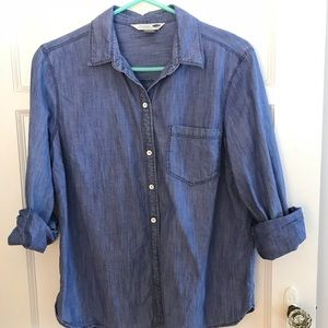 Chambray button down denim shirt